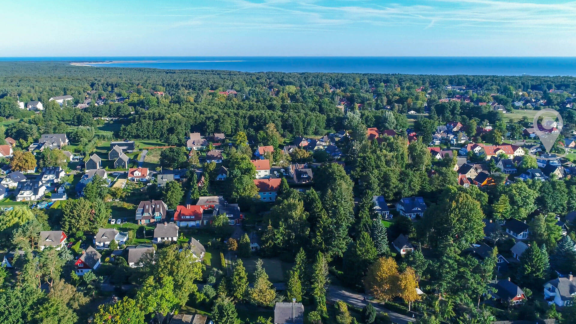 Luftbild Prerow Haus Andreas